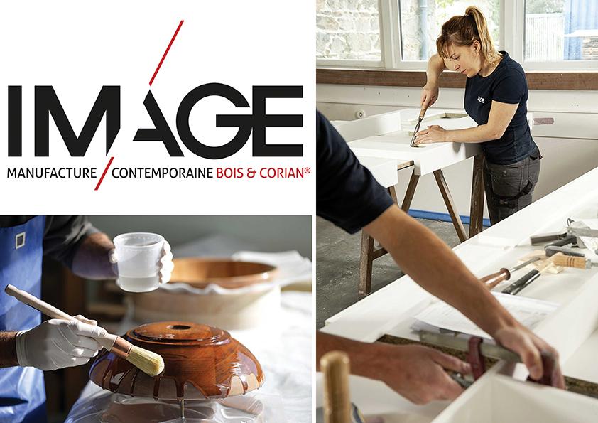 Présentation de la société Image, manufacture de bois et Corian.